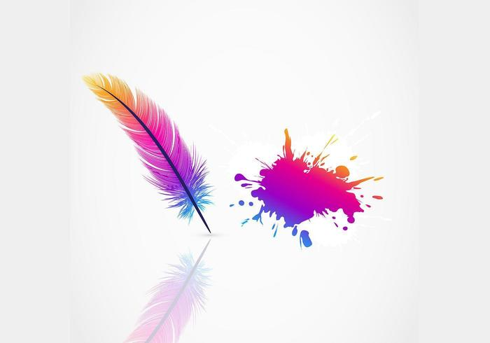 Bright Feather Vector Background