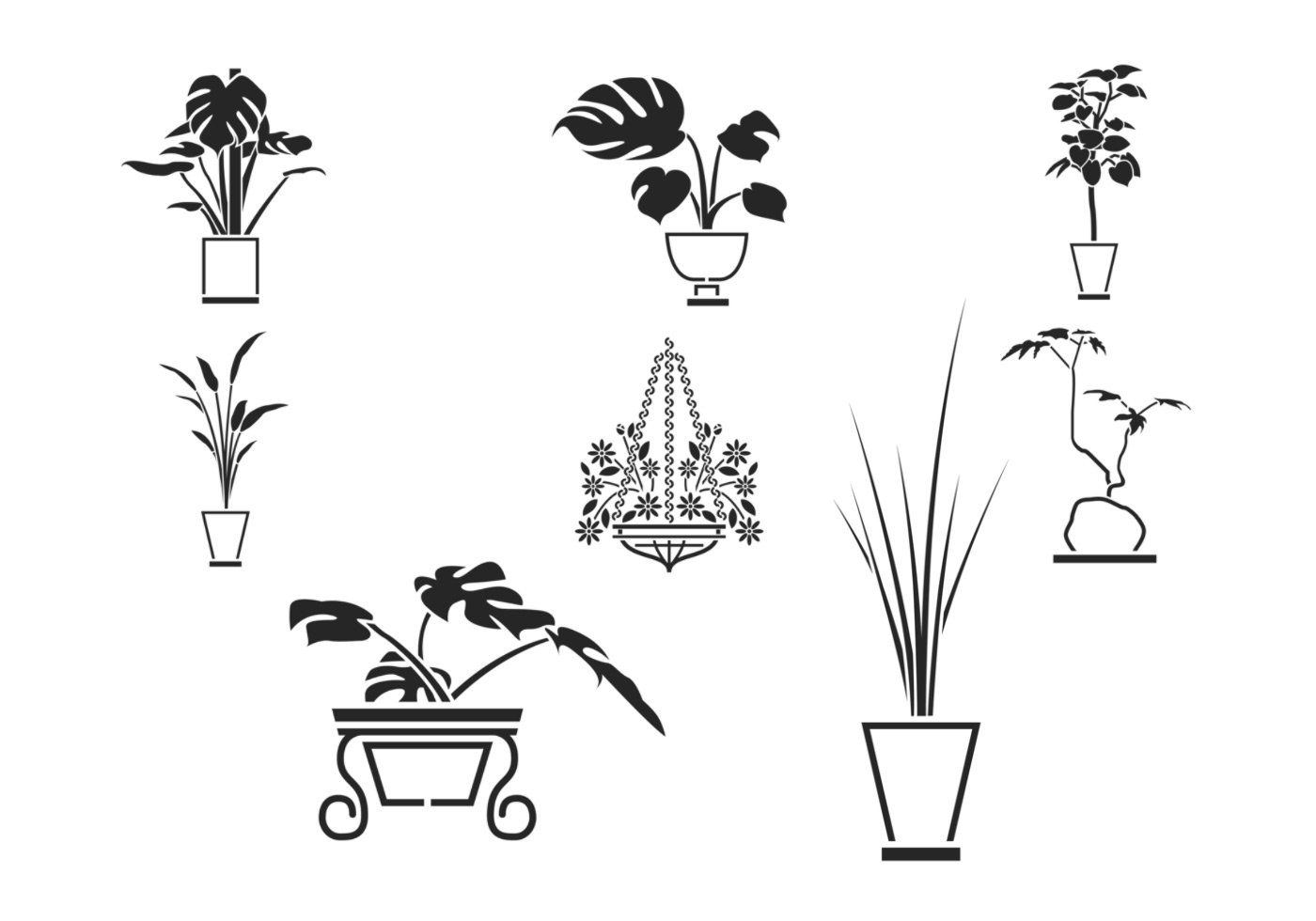 House Plant Vector Pack Download Free Vectors Clipart