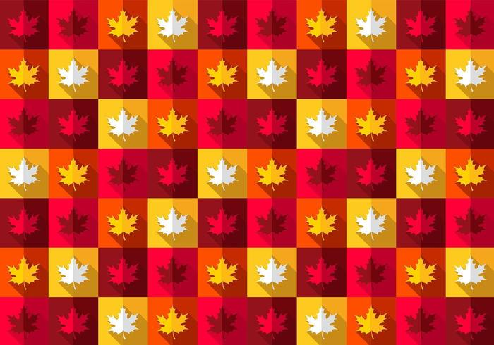 Bright Maple Leaf Vector Pattern