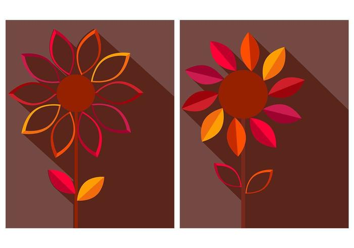 Autumn Flower Vector Background Pack