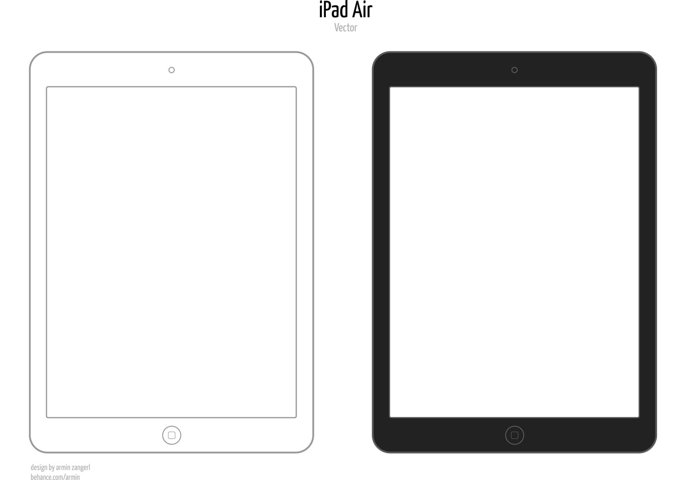 Minimalistic iPad Air Vector Mockup | Free Vector Art at ...