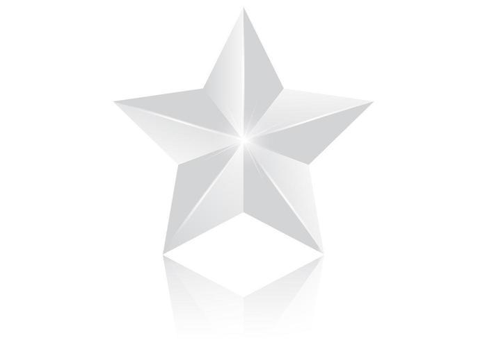 Vettore d'argento della stella 3d