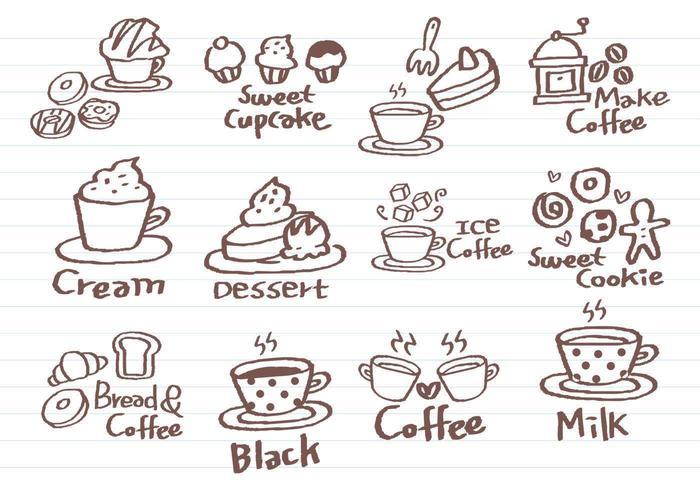 Café Doodle Vector Pack