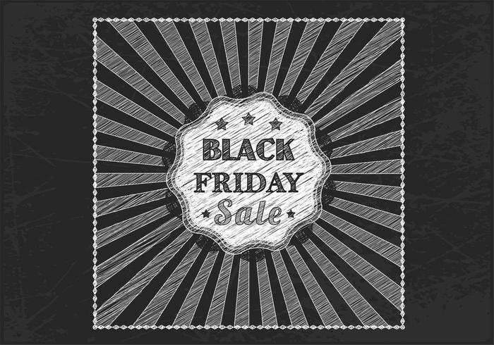 Chalk Drawn Black Friday Sale Vector