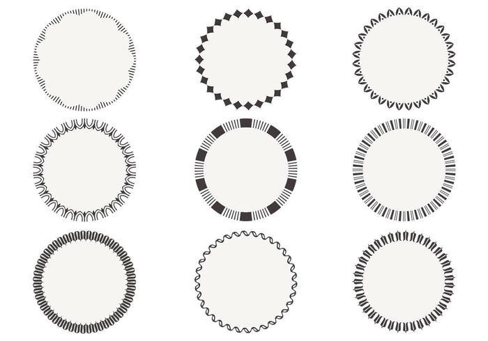 Einfache kreisförmige Rahmenvektoren