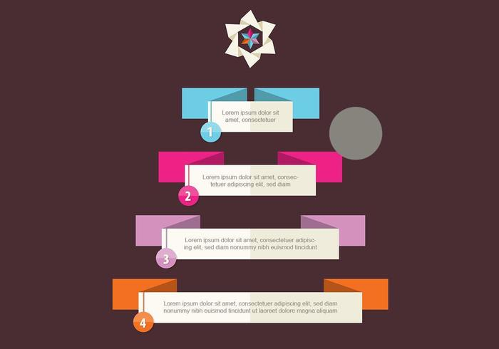 Christmas Tree Infographic Vector
