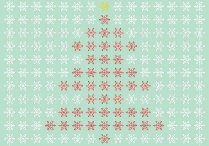 Vetor de árvore de Natal de floco de neve