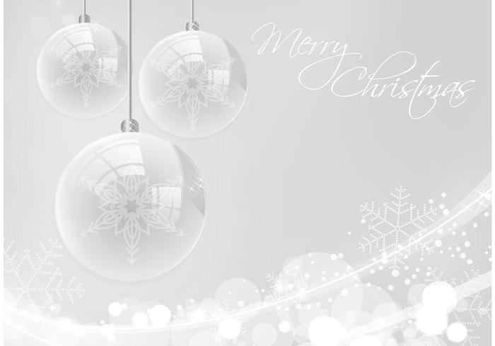 Silver Merry Christmas Vector Background