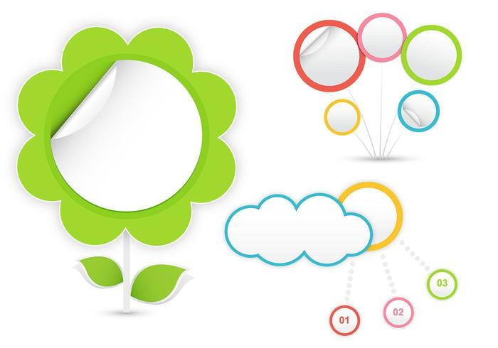Concept Cloud and Flower Vector Pack