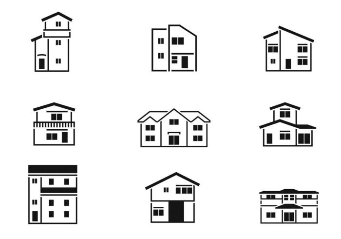 Outlined House Vector Pack