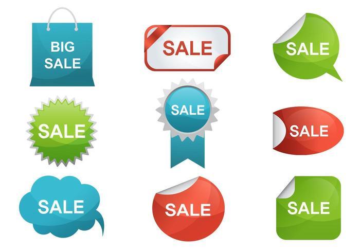 Försäljning Etikett Vector Pack
