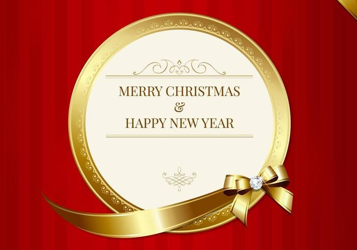 Luxuriöse frohe weihnachtskarte vektor