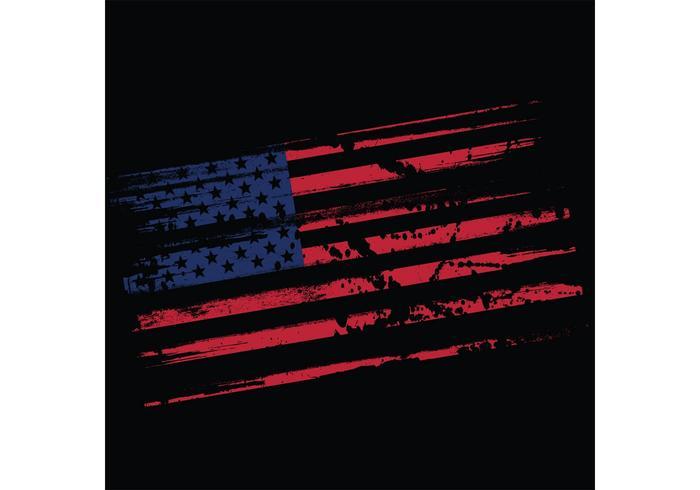Grungy US Flag Vector