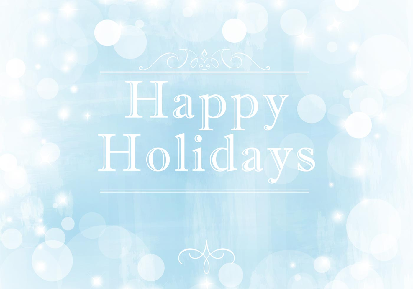 Wintery Happy Holidays Vector Background Download Free