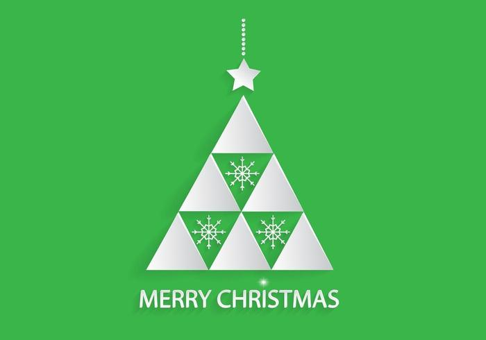 White Christmas Tree Vector Background