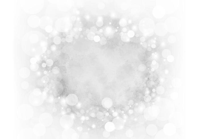 Plata Sparkly Bokeh Vector de fondo