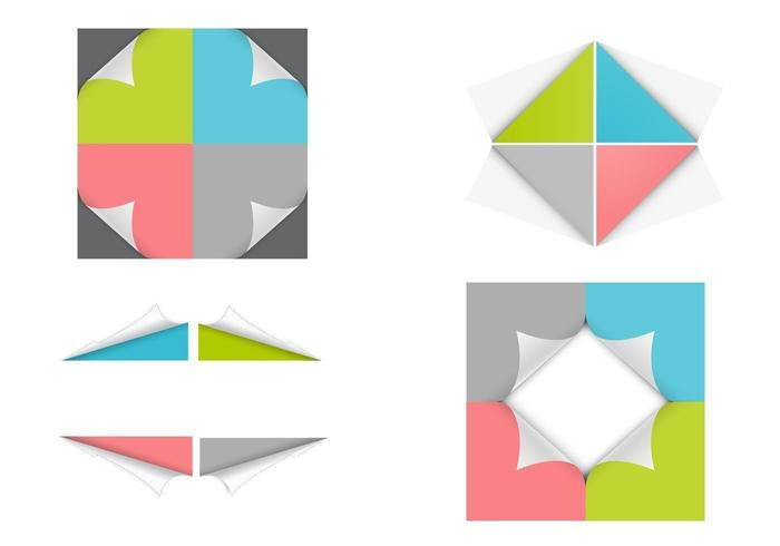 Curled Corner Vector Pack