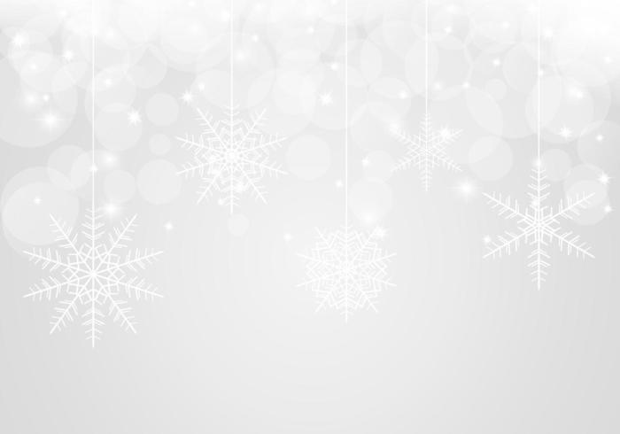 Bokeh Snowflake Vector Background