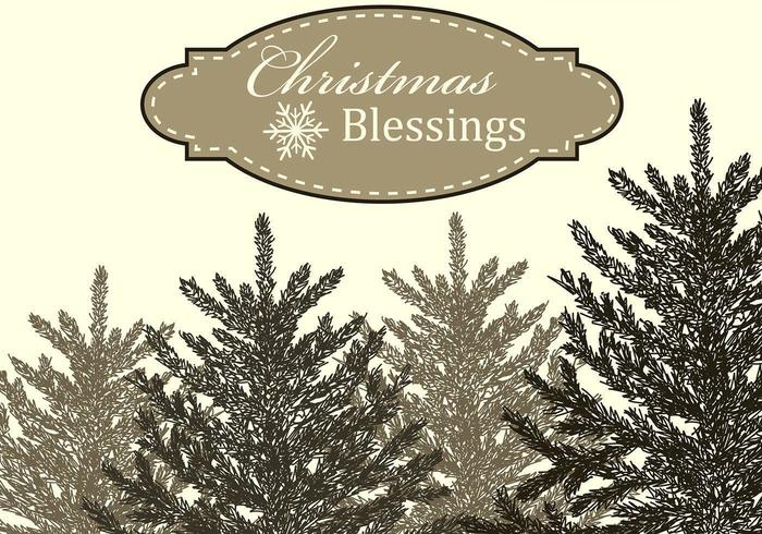 Christmas Blessings Vector