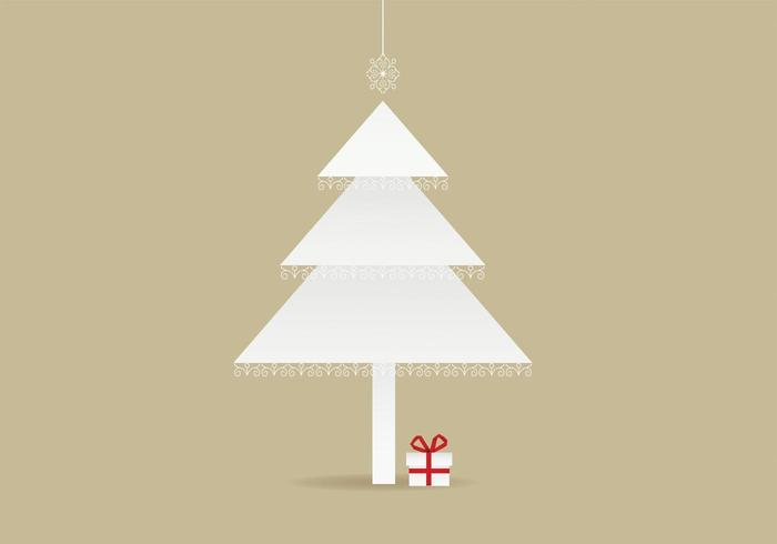 Lace Trimmed Christmas Tree Background Vector