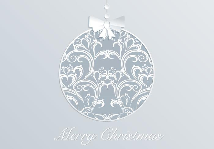 Damask Christmas Ornament Vector