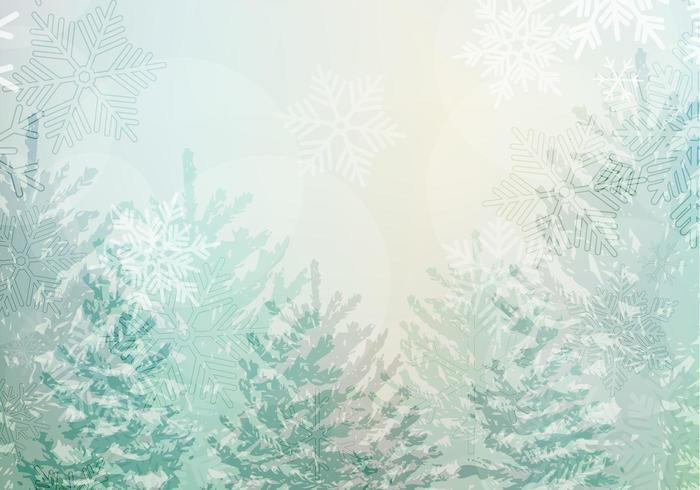 Snowy-Winter-Landschaftsvektor-Tapeten-Satz