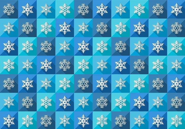 Seamless Winter Snowflake Pattern Vector