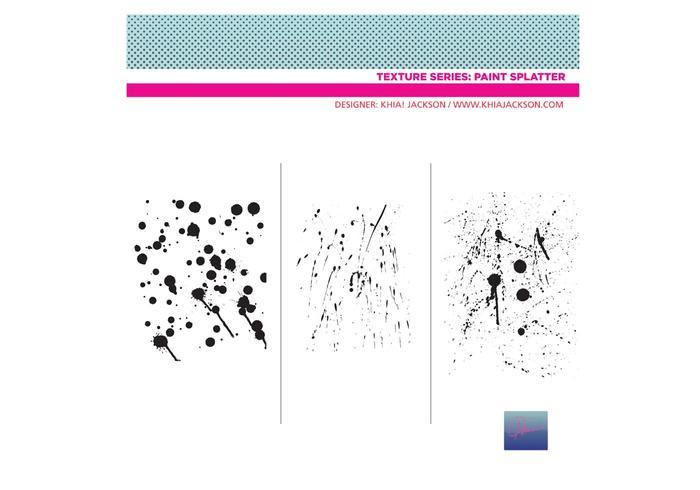Paint Splatter Vectors / Textured