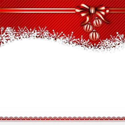 Red Bow Christmas Vector Background