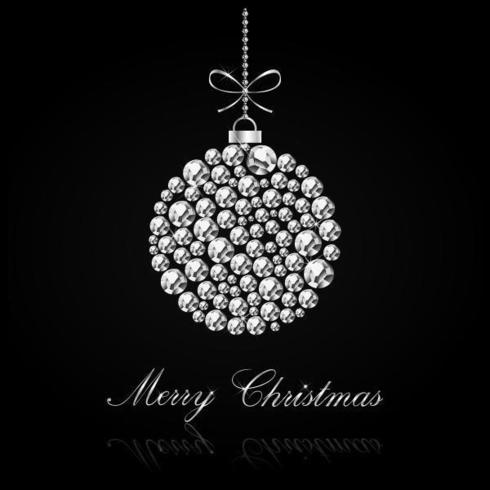 Diamond Studded Christmas Vector Background