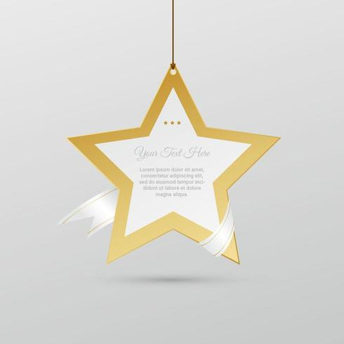 Golden Holiday Star Vector Background