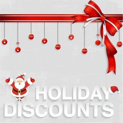 Santa's Holiday Discount Vector Wallpaper