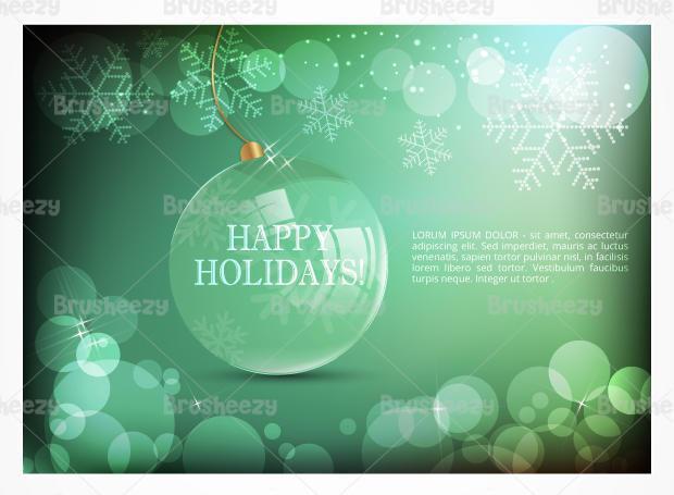 Emerald Holiday Bokeh Vector Wallpaper