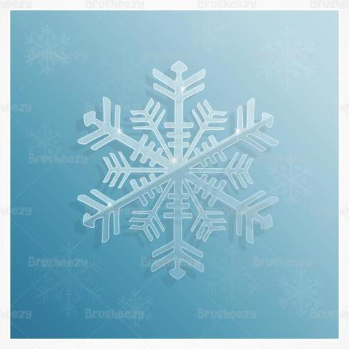 Icy Snowflake Vector Background