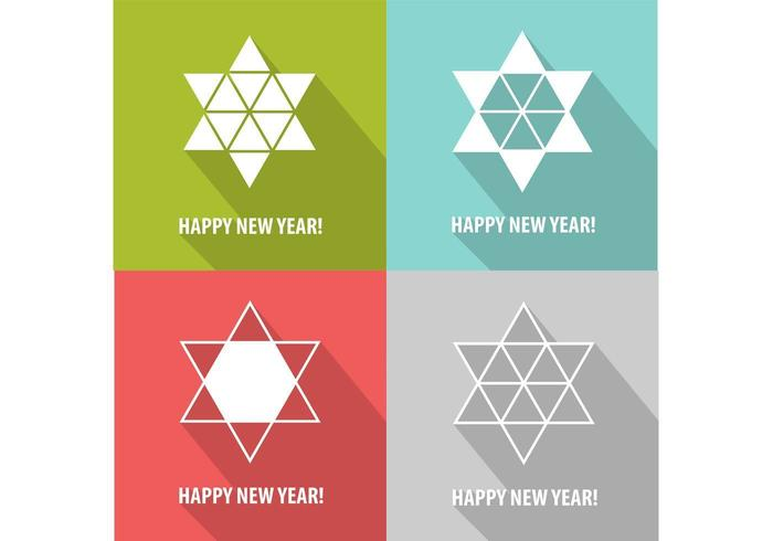 Modern Star New Year Vector Background Pack