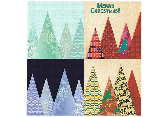 Pack de fondo de vectores de árbol de Navidad de vectores