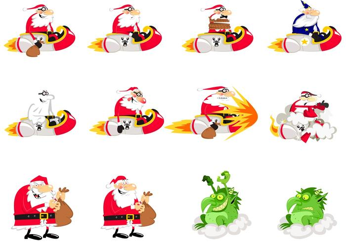 Santa Vector Cartoons