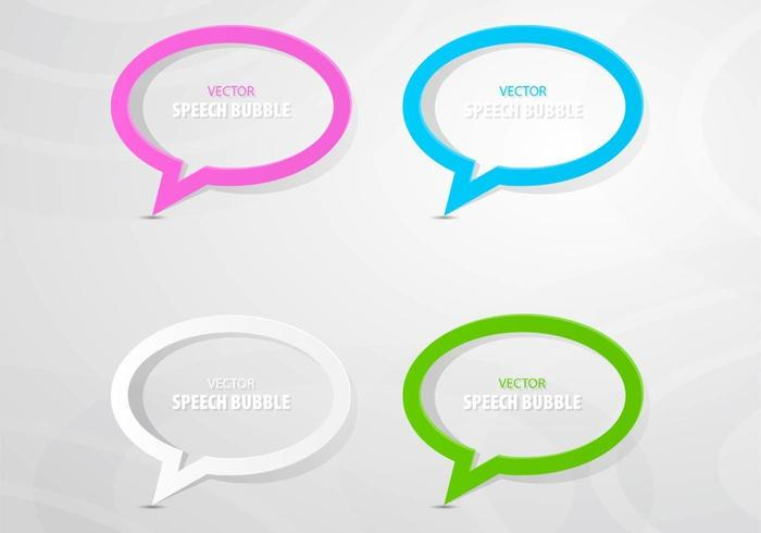 Colorful Outlined Speech Bubble Vector Pack