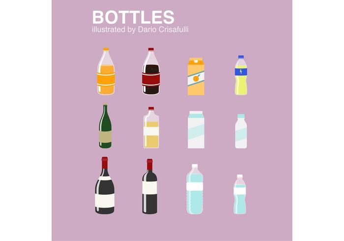 Bottle Vector Icon Set