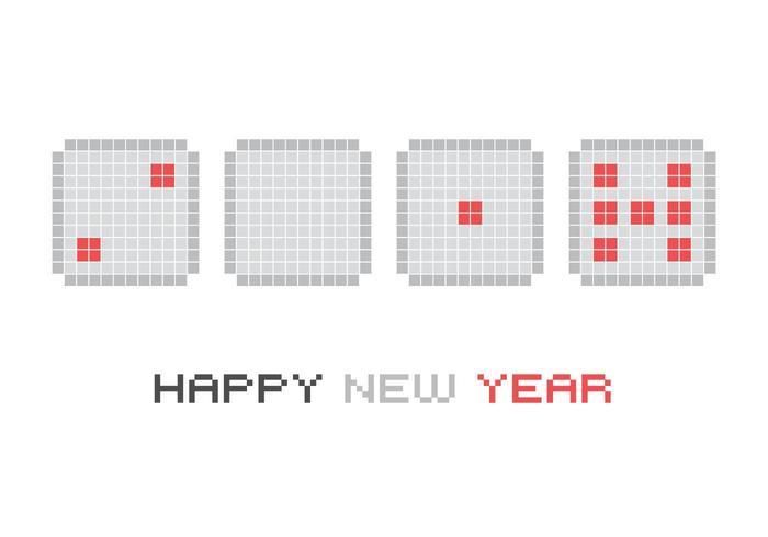 2017 Neujahr Würfel Vektor Hintergrund