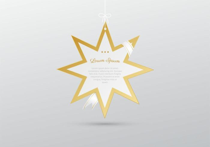 Hanging Star with Ribbon Vector