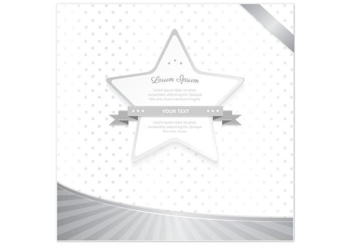 Silver Star Polka Dot Star vettore