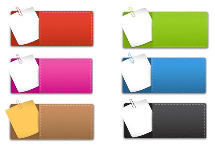 Sticky Note Banner Vector Pack