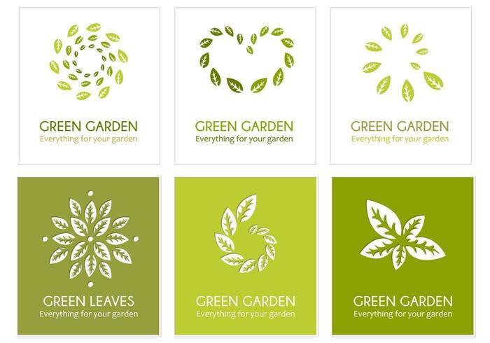 Green Leaf Logo Vector Pack