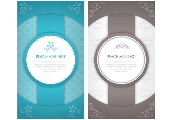 Modern Floral Invitation Vector Pack