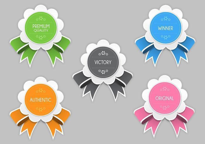 Pacote de vetores de premiação moderna e brilhante