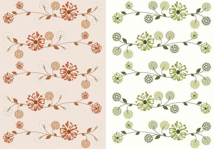 Pack de papier peint floral vecteur