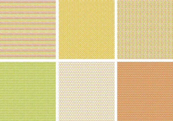 Pack de motifs vectoriels rétro grossier