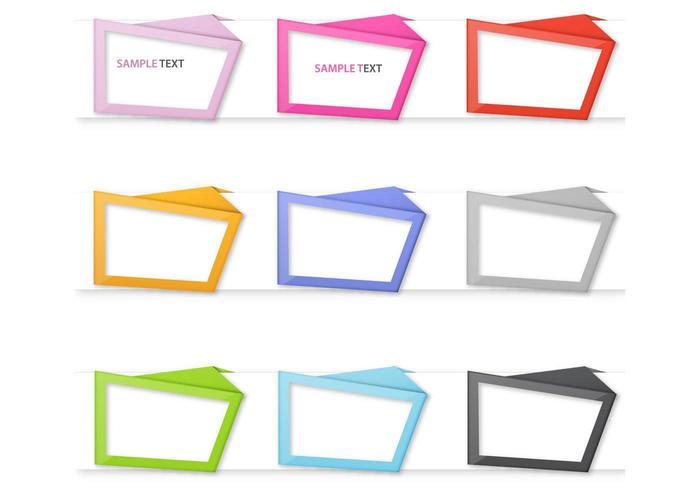 Origami Frame Vector Pack
