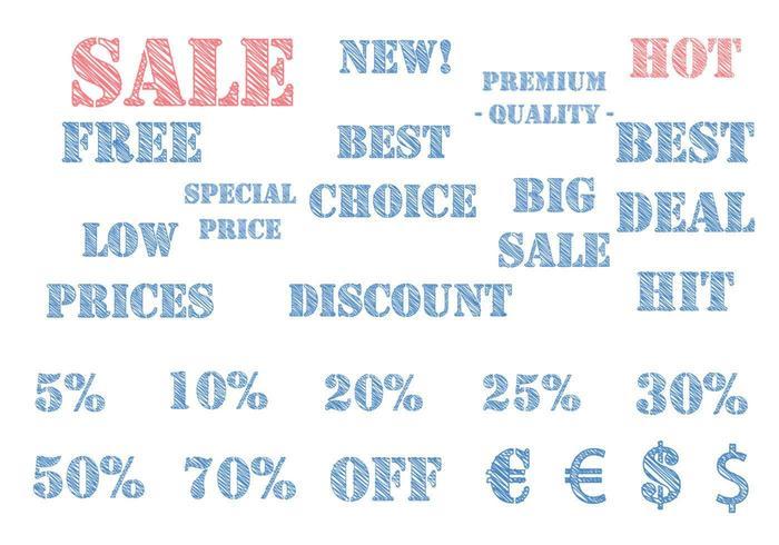 Sketchy E-commerce Label Vector Pack
